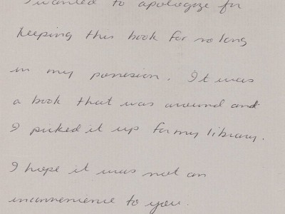 Dear Library Staff