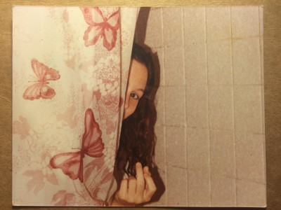 FOUND PHOTO BEHIND THE CURTAIN