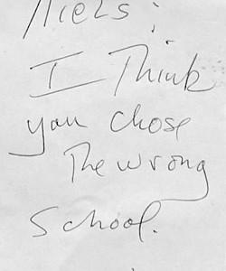 thewrongschool
