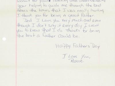 Roscoes Letter 2