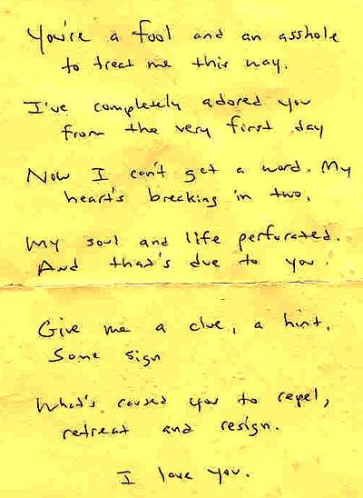 Saddest love letter vatozozdevelopment love poem found magazine spiritdancerdesigns Image collections