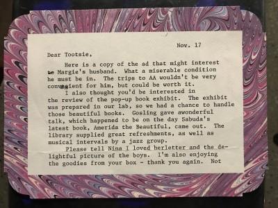 Dear Tootsie